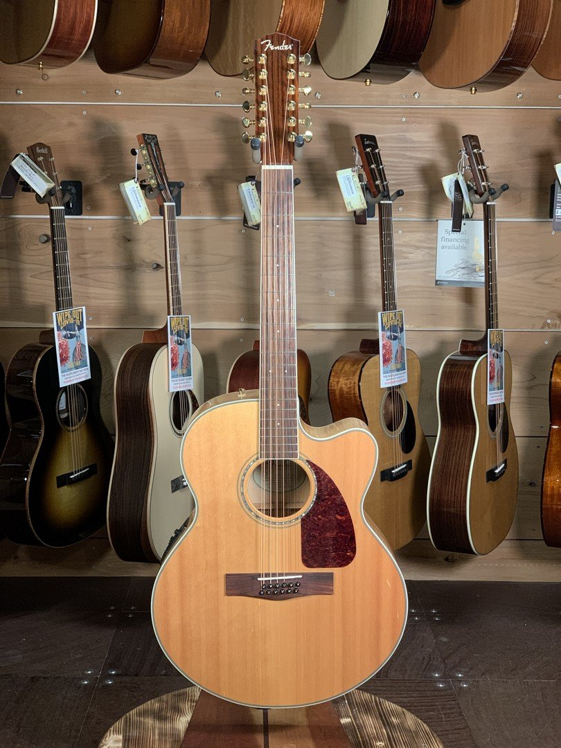 Fender CJ 290SCE/12 Jumbo 12-String Cutaway Acoustic-Electric Guitar