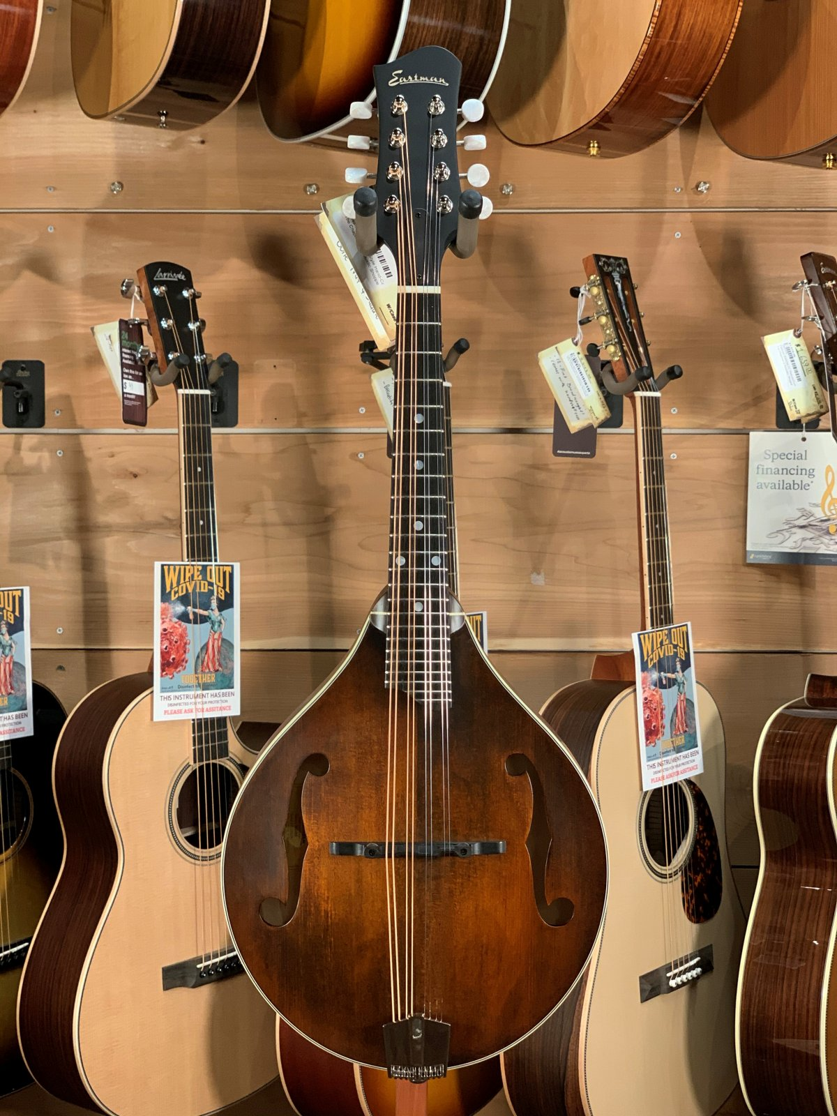 Eastman MD305 A-Style Hand-Carved Mandolin #1340