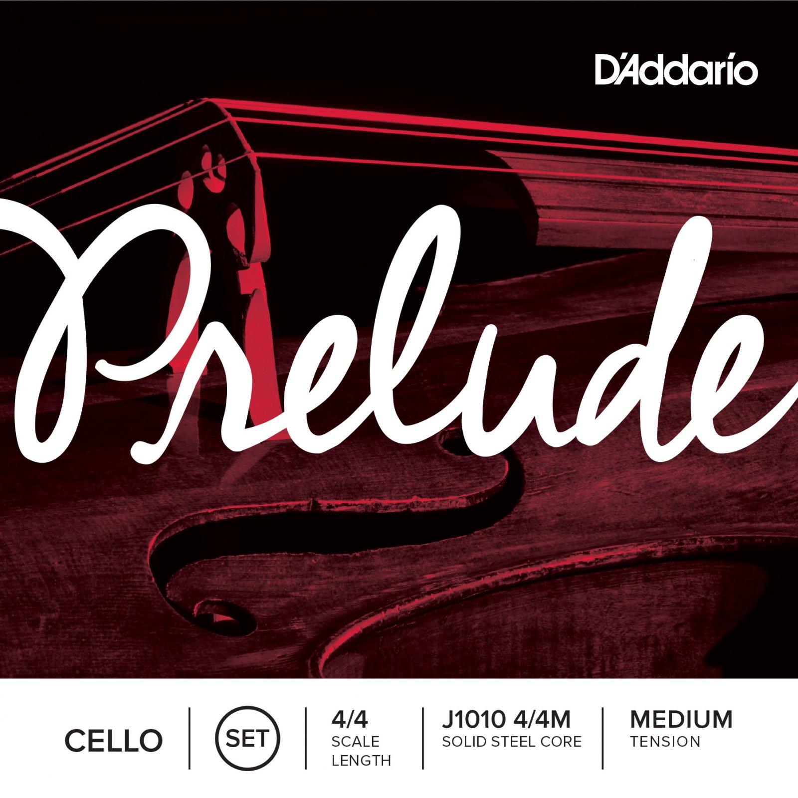 D'Addario J1010 Prelude Cello String Set 4/4 Scale Medium