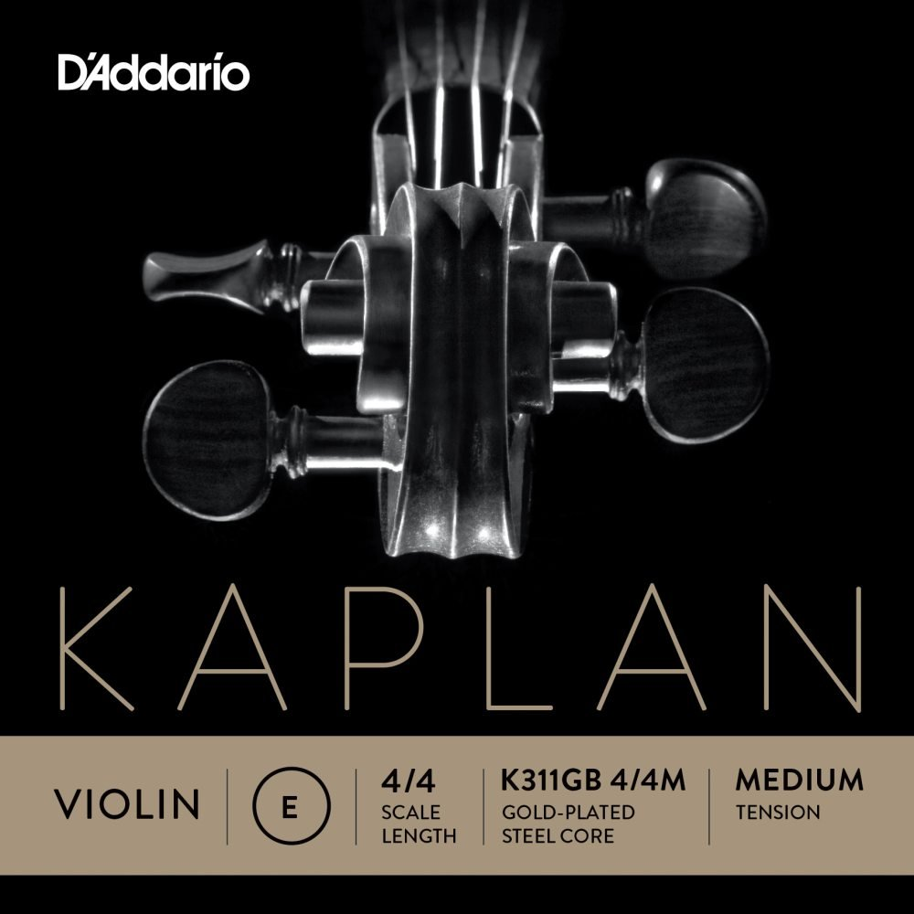 D'Addario Kaplan K311GB 4/4M Gold Plated Ball end Violin E String