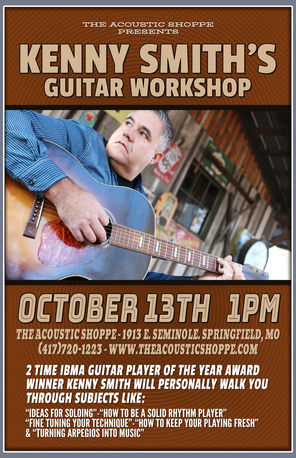 Kenny Smith @ The Acoustic Shoppe Guitar Workshop Ticket