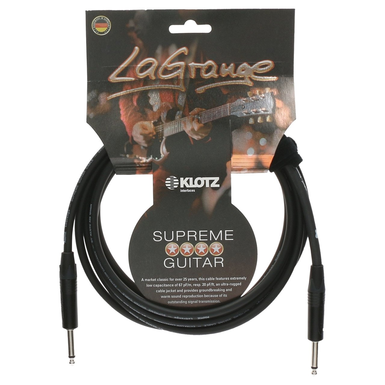 KLOTZ 20 Foot LaGrange Instrument Cable (KLO-LAPP0600)