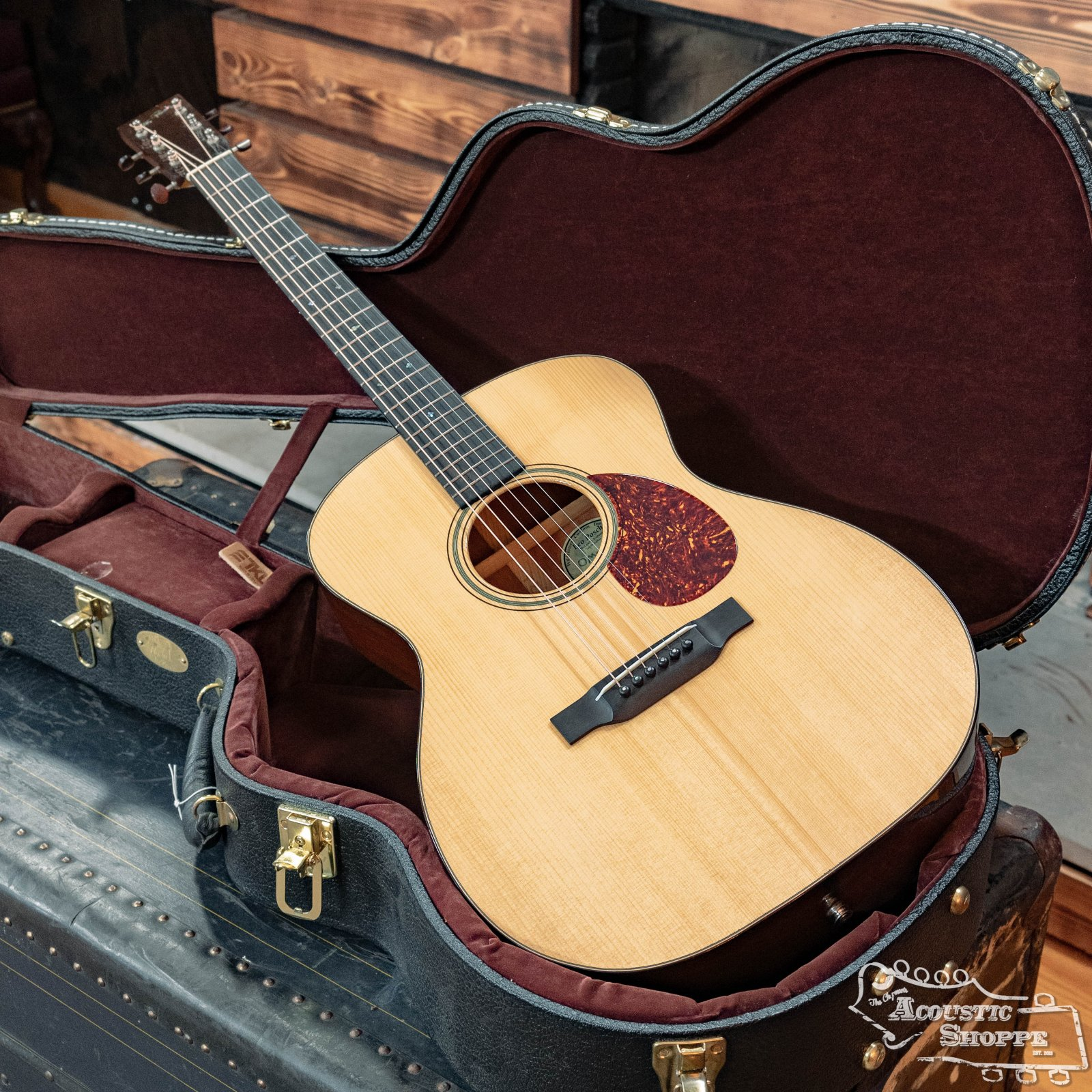 (Used) 2012 Leo Posch OM-M Red Spruce Top/Mahogany Back & Sides #61