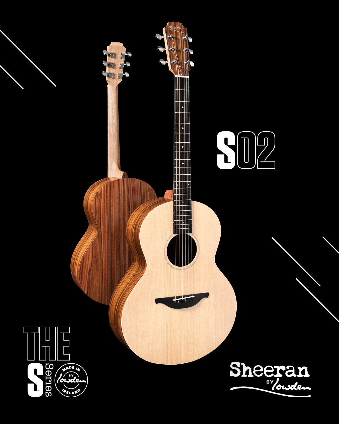 Sheeran by Lowden S-02 Sitka/Rosewood Guitar w/ LR Baggs Pickup (PRE ORDER)