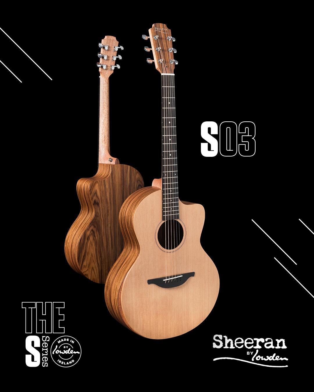 Sheeran by Lowden S-03 Cedar/Rosewood Cutaway Guitar w/ LR Baggs Pickup (PRE ORDER)