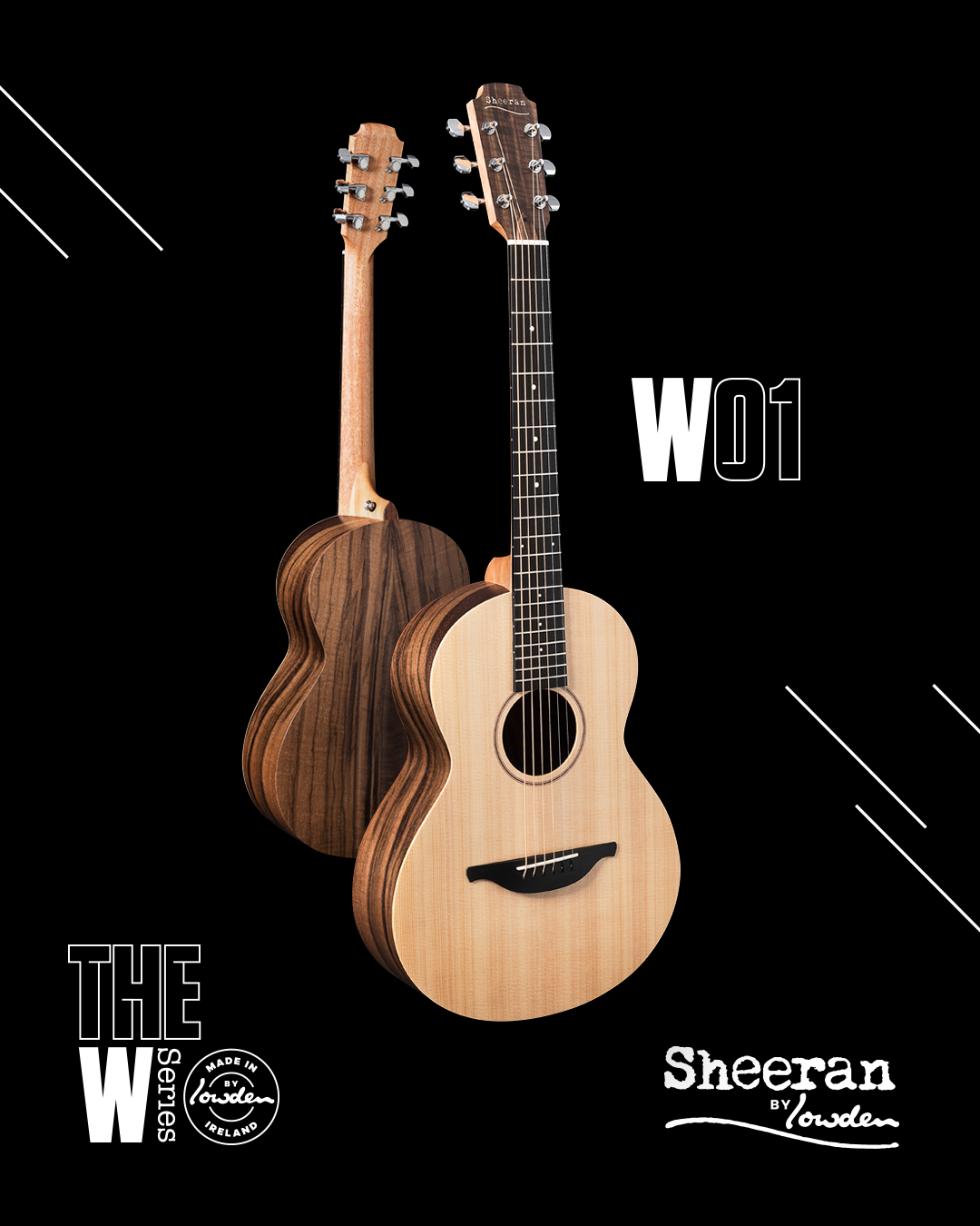 Sheeran by Lowden W-01 Cedar/Walnut Guitar (PRE ORDER)