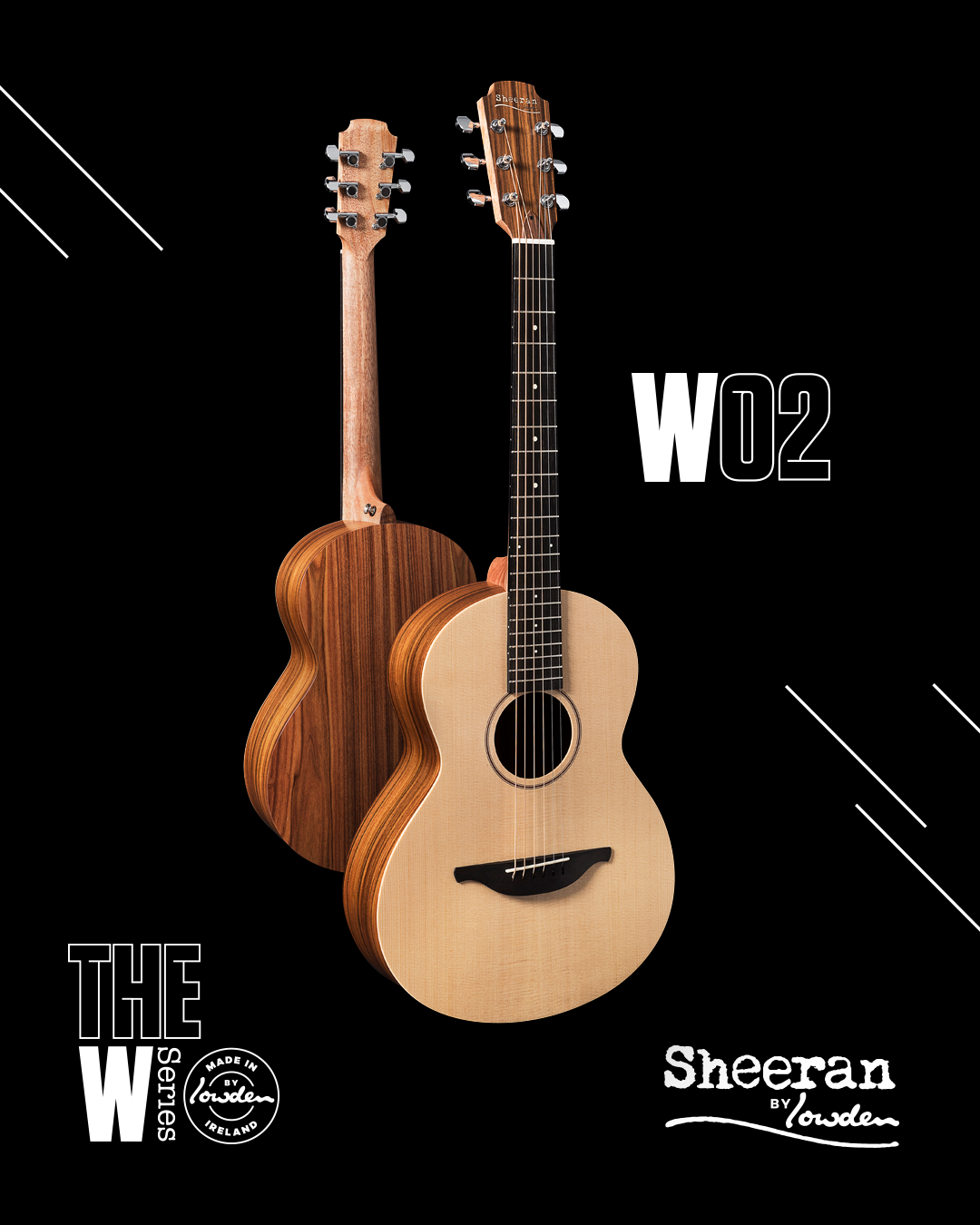Sheeran by Lowden W-02 Sitka/Rosewood Guitar w/ LR Baggs Pickup (PRE ORDER)