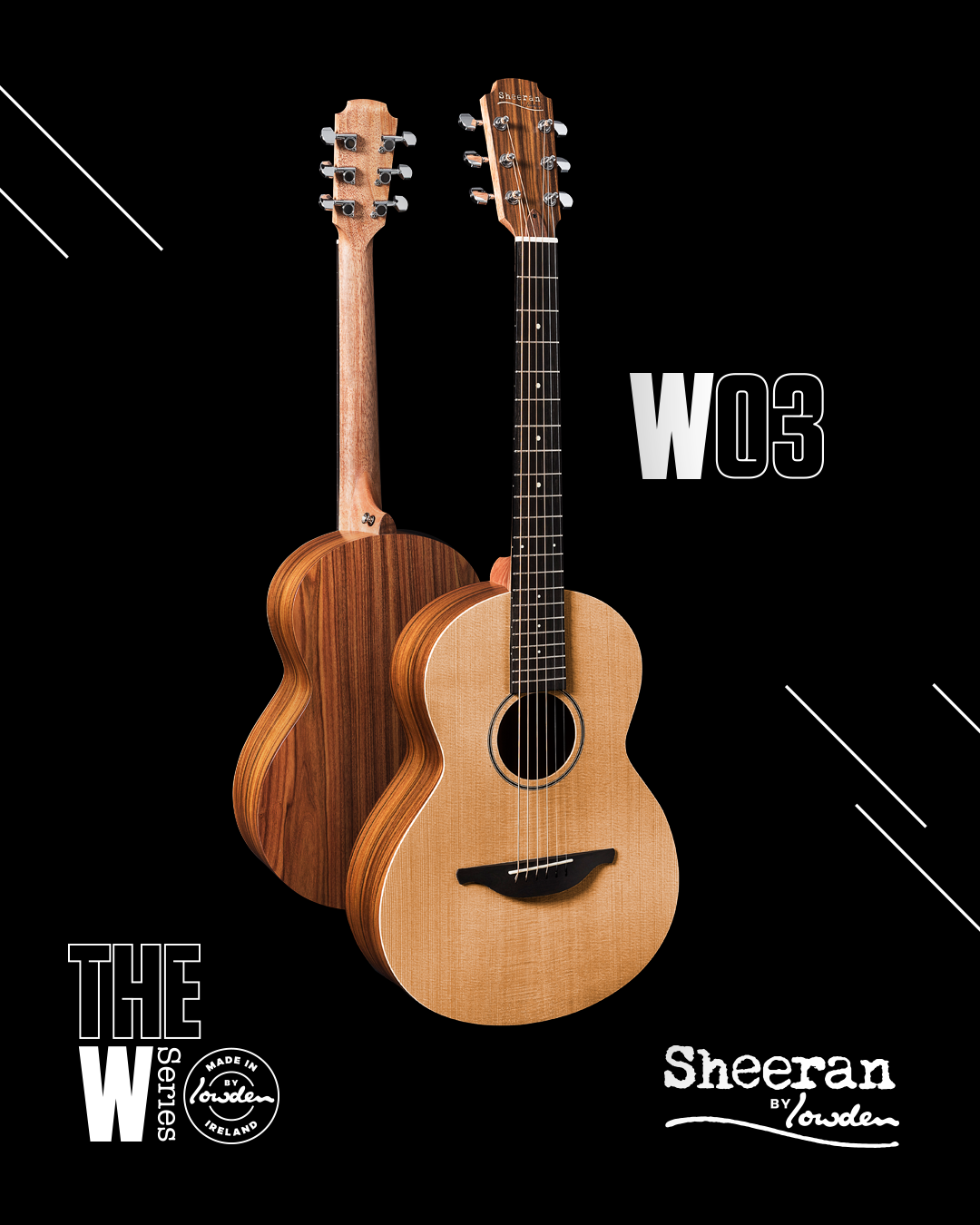 Sheeran by Lowden W-03 Cedar/Rosewood Guitar w/ LR Baggs Pickup (PRE ORDER)