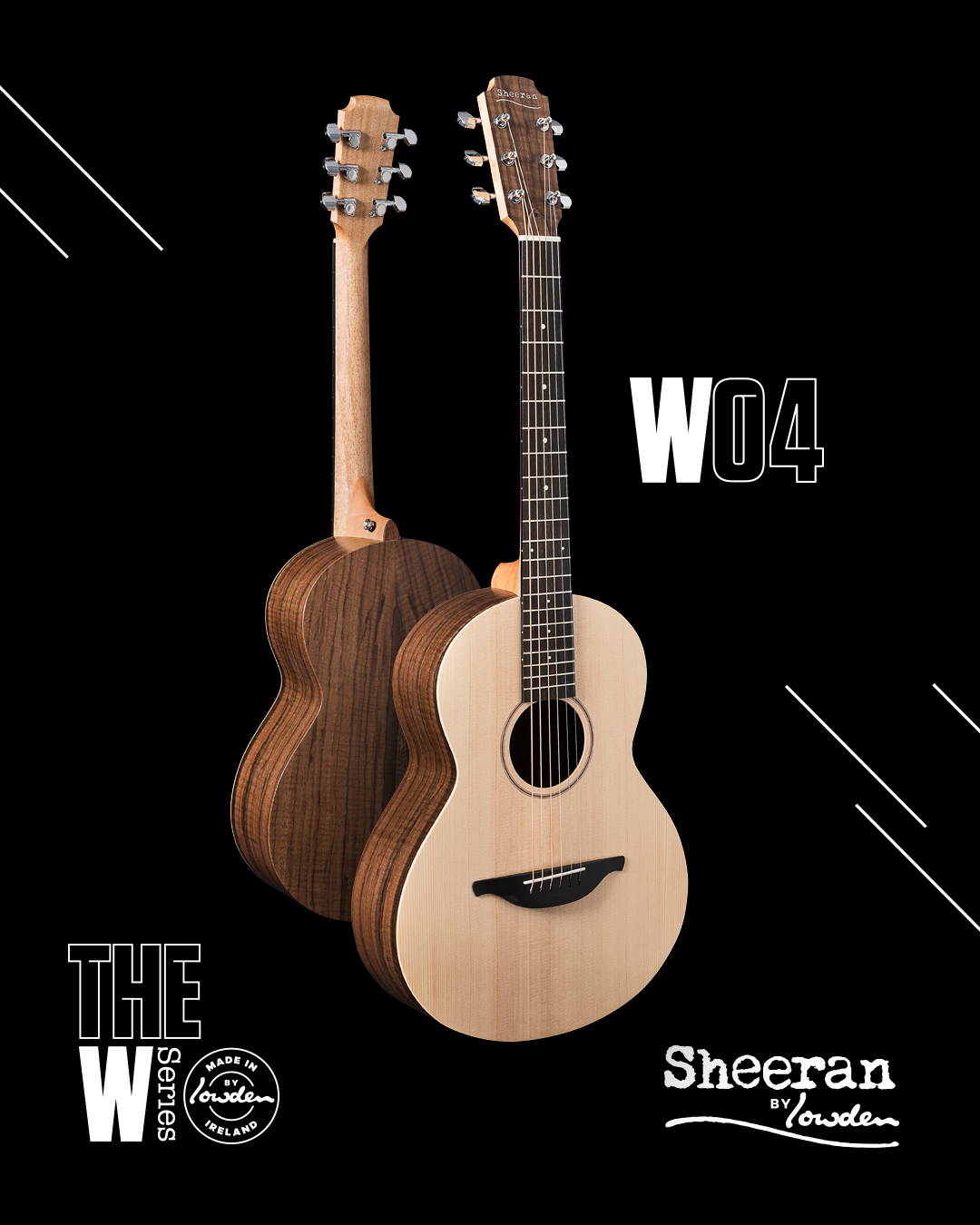 Sheeran by Lowden W-04 Sitka/Figured Walnut Guitar w/ LR Baggs Pickup (PRE ORDER)