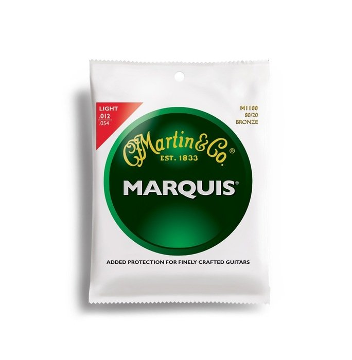 Martin Marquis 80/20 Bronze Light Acoustic Guitar Strings (M1100)