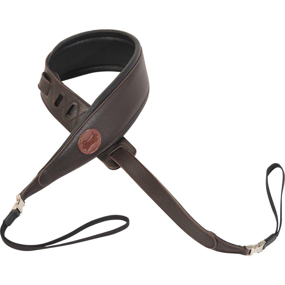 Levy's Garment Leather Banjo Strap - Dark Brown (MGB2Q-DBR)