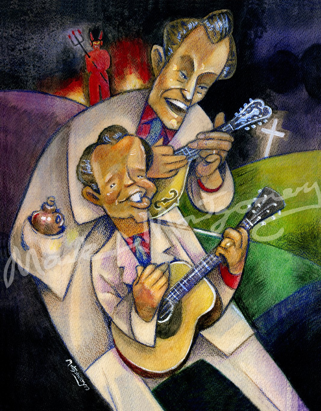 The Louvin Brothers Fine Art Print by Mark A Montgomery