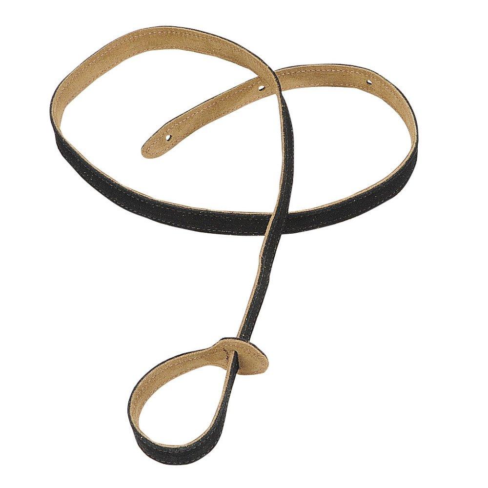 Levy's Hand-Brushed Suede Mandolin Strap - Black (MS19-BLK)