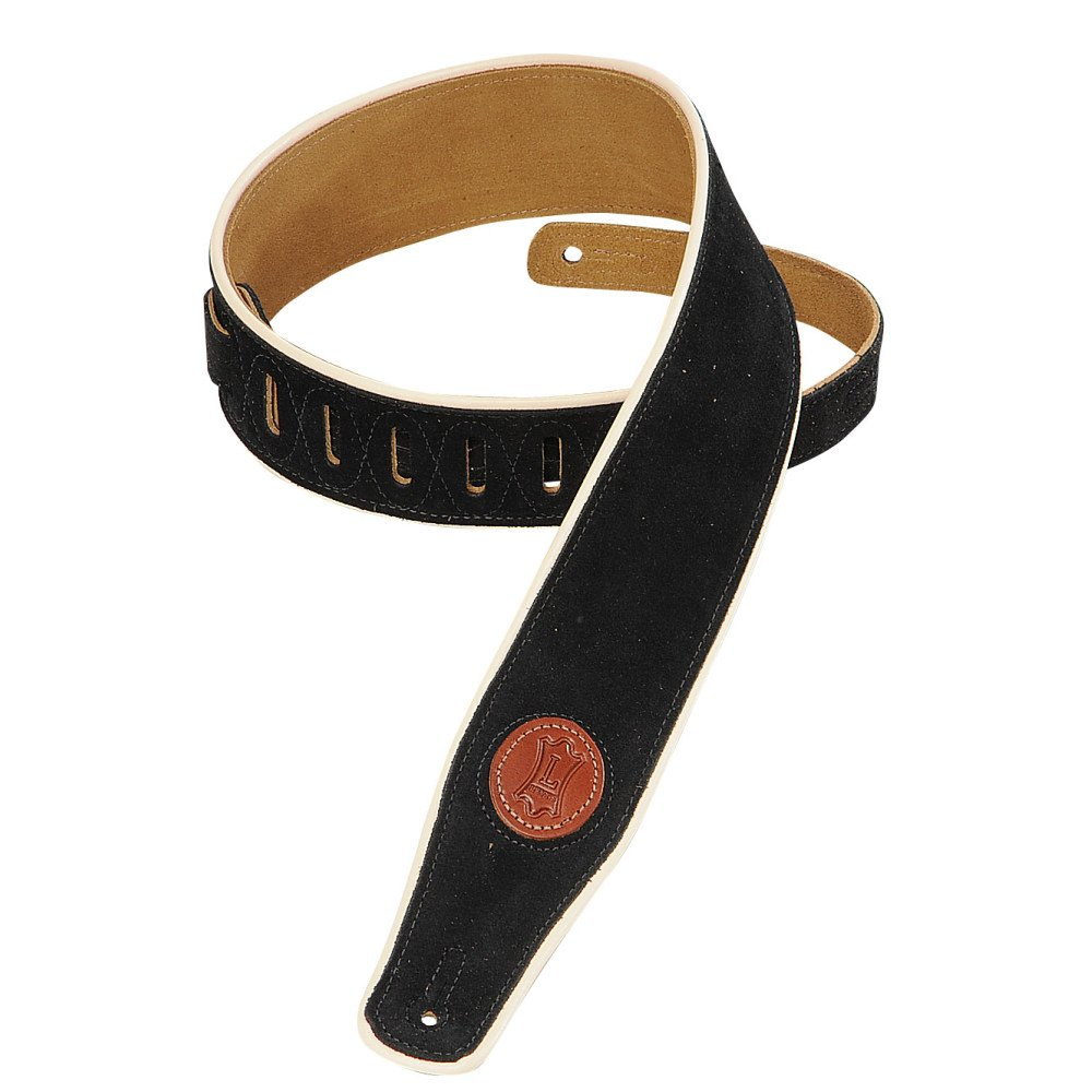 Levy's Hand Brushed Suede Guitar Strap MSS3CP-BLK (Black)