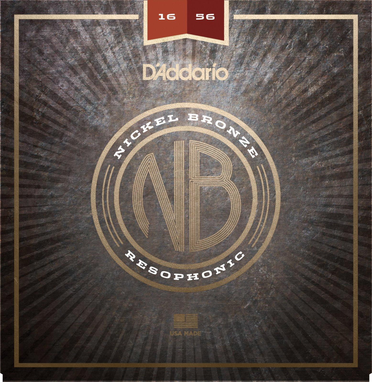 D'Addario NB1656 Nickel Bronze Acoustic Guitar Strings Resophonic 16-56