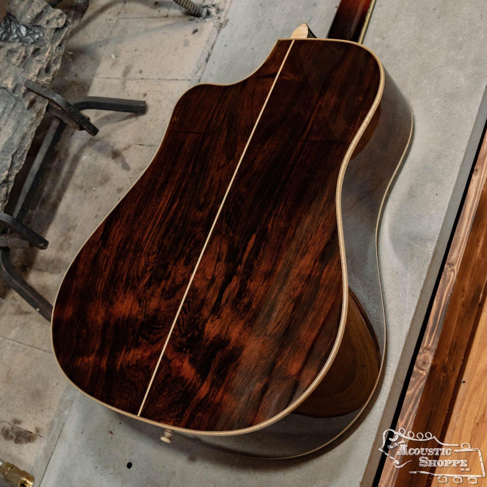 (Used) Noble Custom Cutaway Dreadnought Adirondack Spruce Top/Brazilian Rosewood Back & Sides