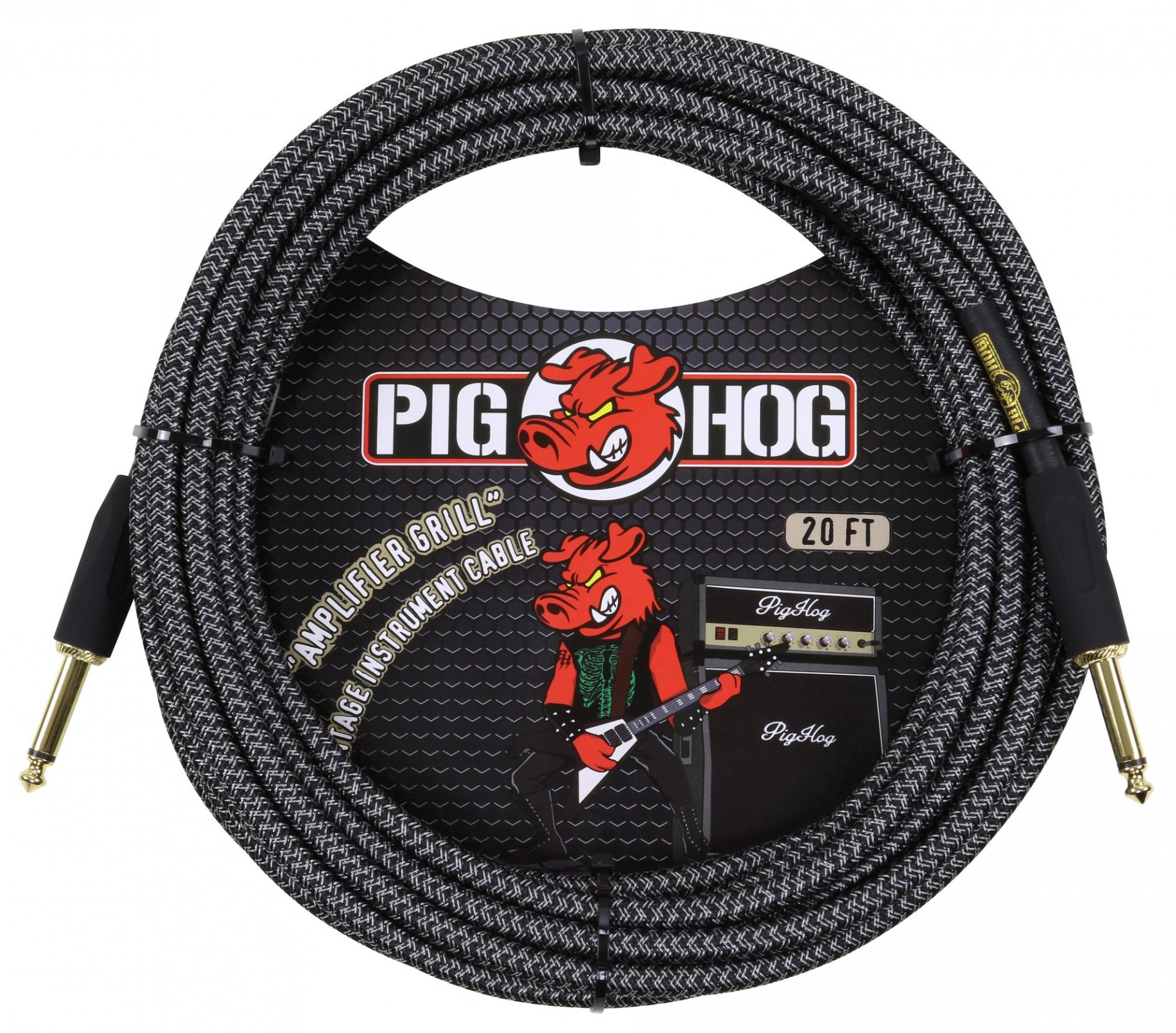 Pig Hog Amp Grill 20ft Instrument Cable