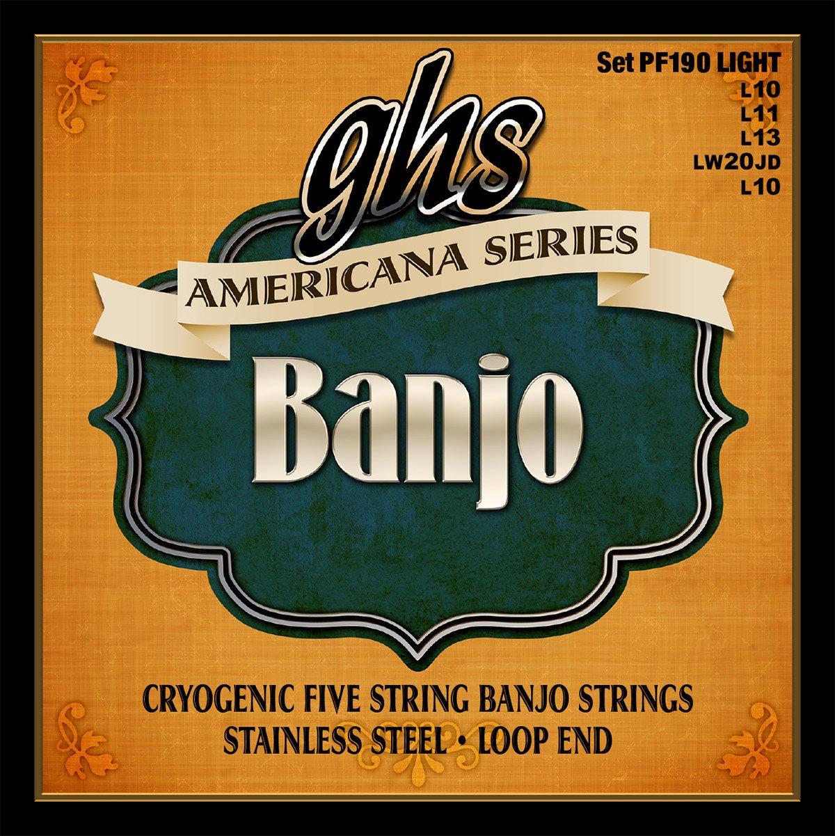 GHS Set Americana Banjo Light (PF190)
