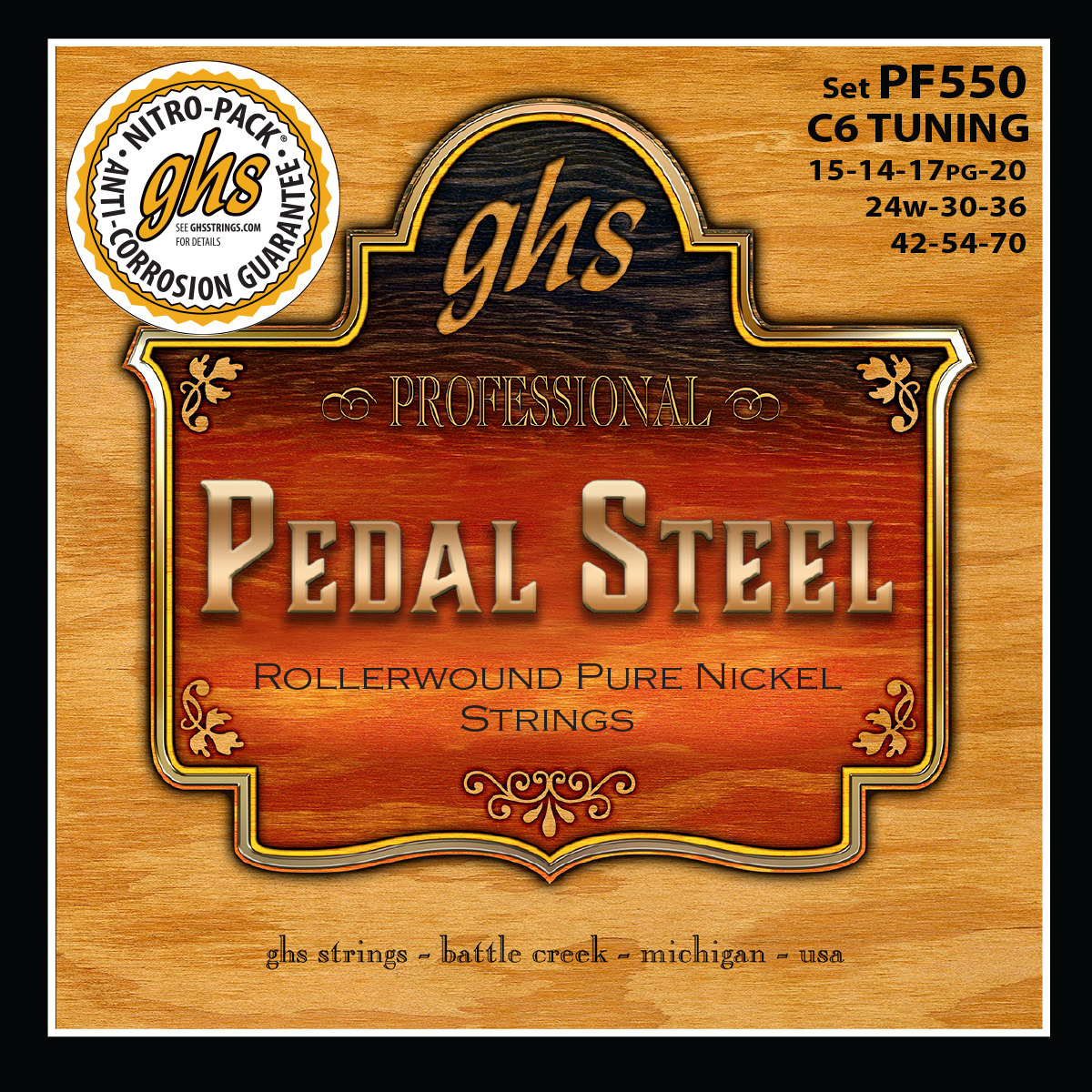 GHS Strings Steel Pedal C6th Tuning (PF550)