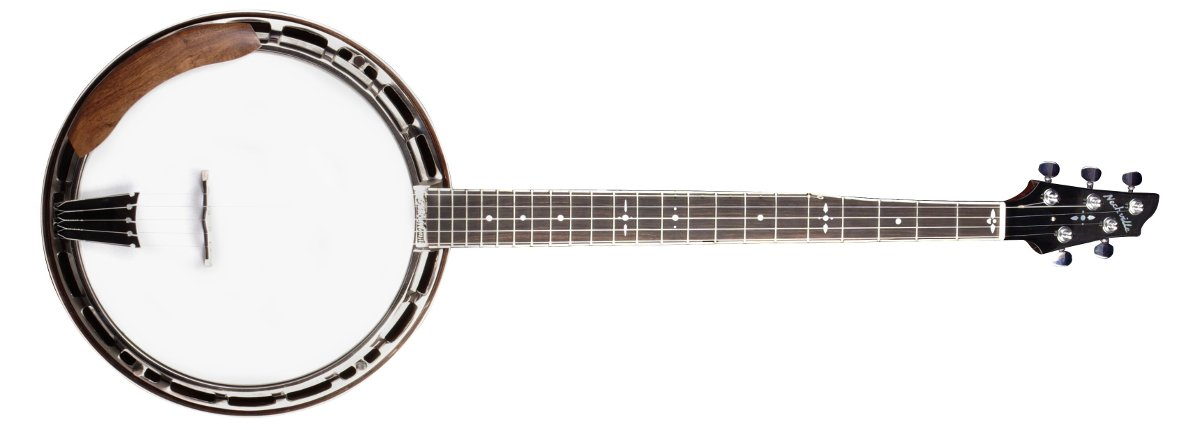 Nechville Photon - #2468 tunneled 5th string, mahogany neck and quilted mahogany resonator