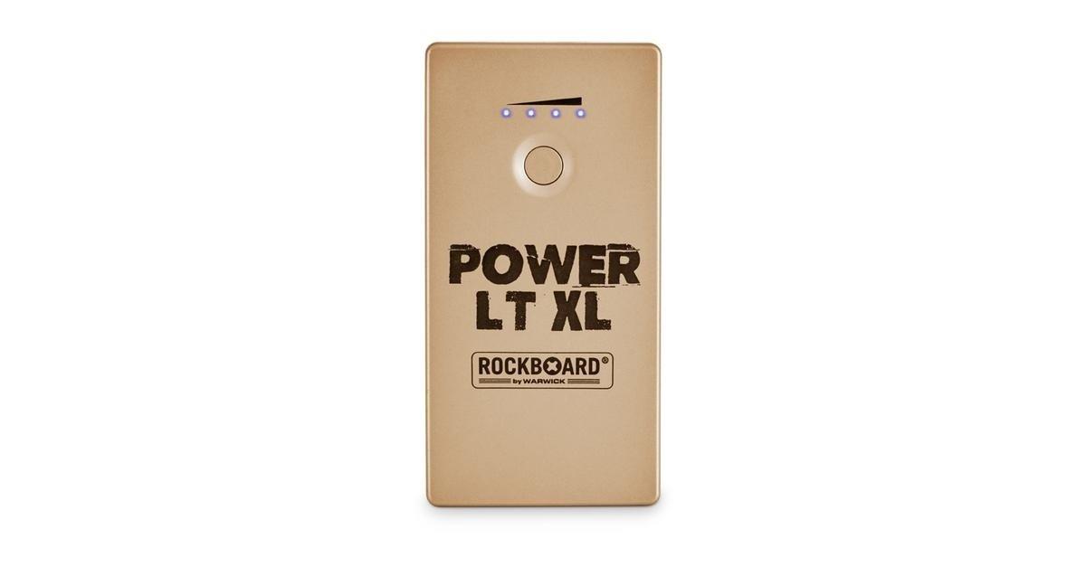 RockBoard Power LT XL (Gold) - Rechargeable Effects Pedal + Mobile Power Bank