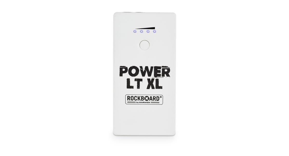 RockBoard Power LT XL (White) - Rechargeable Effects Pedal + Mobile Power Bank