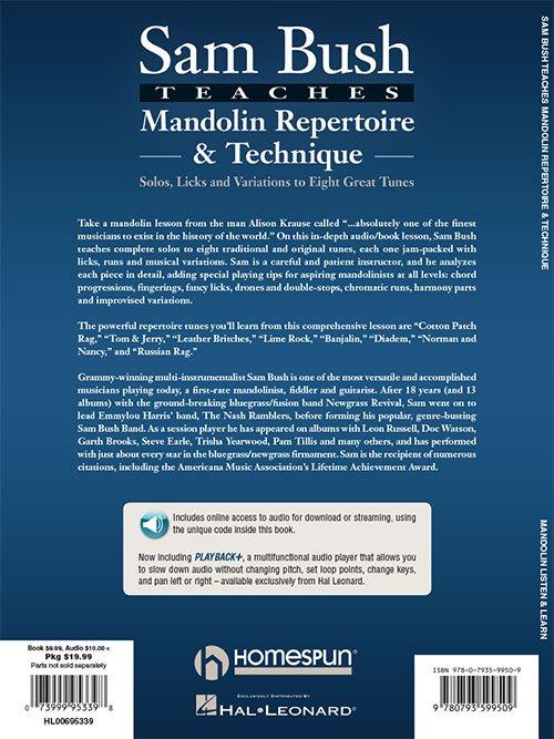 Sam Bush Teaches Mandolin Repertoire & Technique (HL00695339