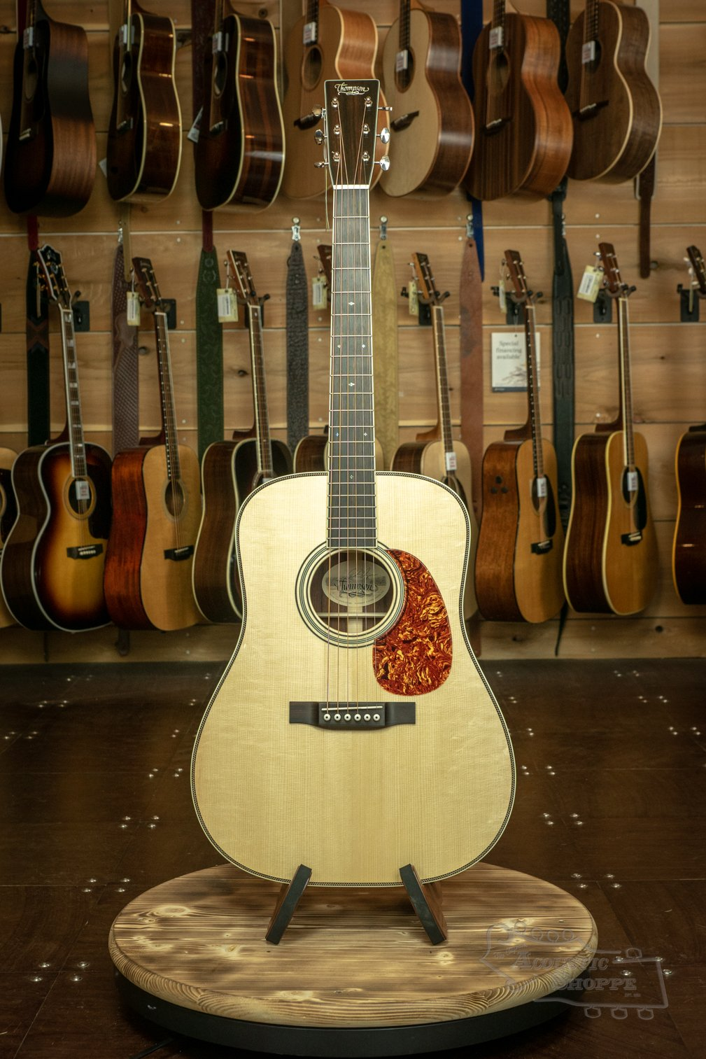 Preston Thompson D-MAD/ADI Madagascar Rosewood Custom w/ Bound Fretboard and Bound Peghead Acoustic Guitar #1565