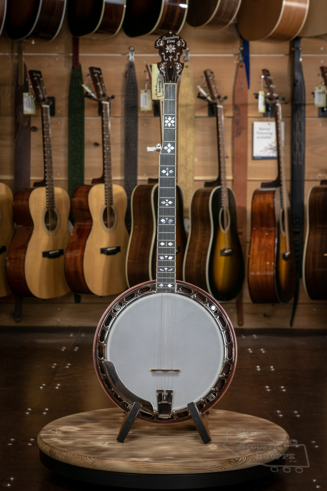 RK-ELITE-76 Recording King Resonator Banjo, The Elite Hearts & Flowers #2001
