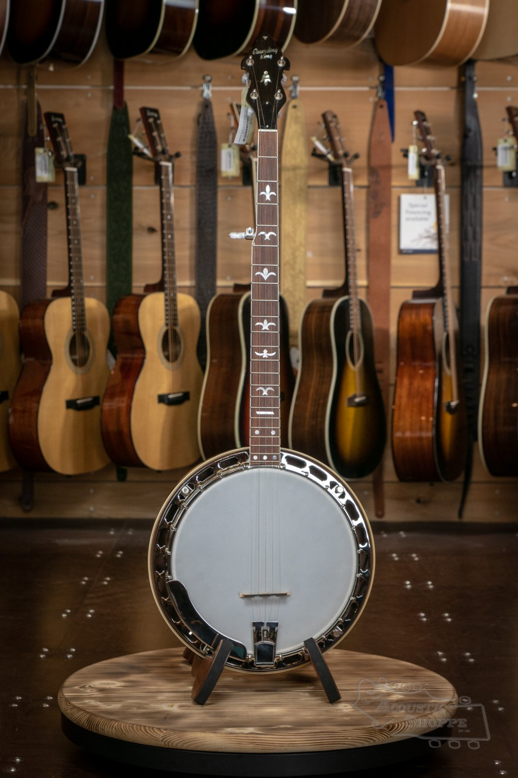 Recording King USA M9 Walnut Resonator Banjo #7032