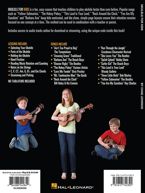 Ukulele For Kids The Hal Leonard Ukulele Method A Beginners Guide