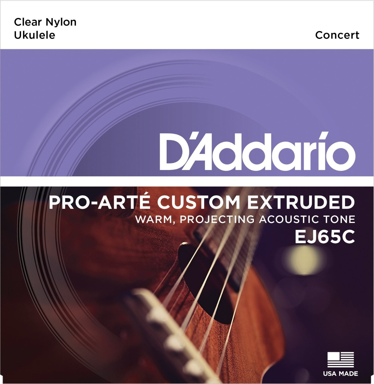 D'Addario EJ65C Pro-Art� Custom Extruded Nylon Ukulele Strings, Concert