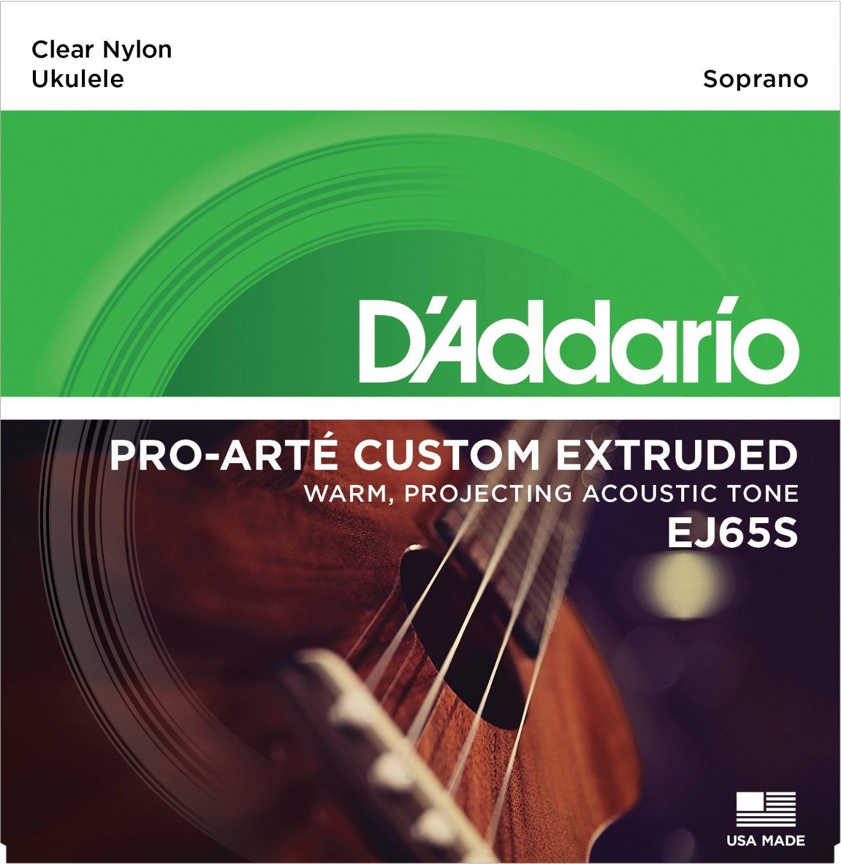D'Addario EJ65S Pro-Art� Custom Extruded Nylon Ukulele Strings, Soprano