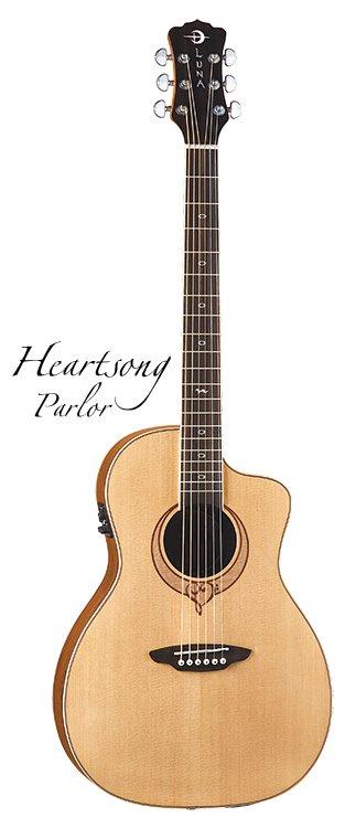 Luna Heartsong Parlor Size Spruce Top Acoustic Guitar