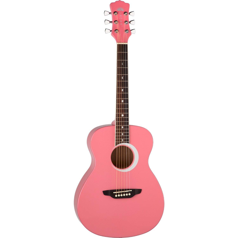 Luna Aurora Borealis 3/4-Size Acoustic Guitar - Pink Pearl
