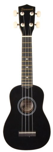 Savannah Black Ukulele with Bag