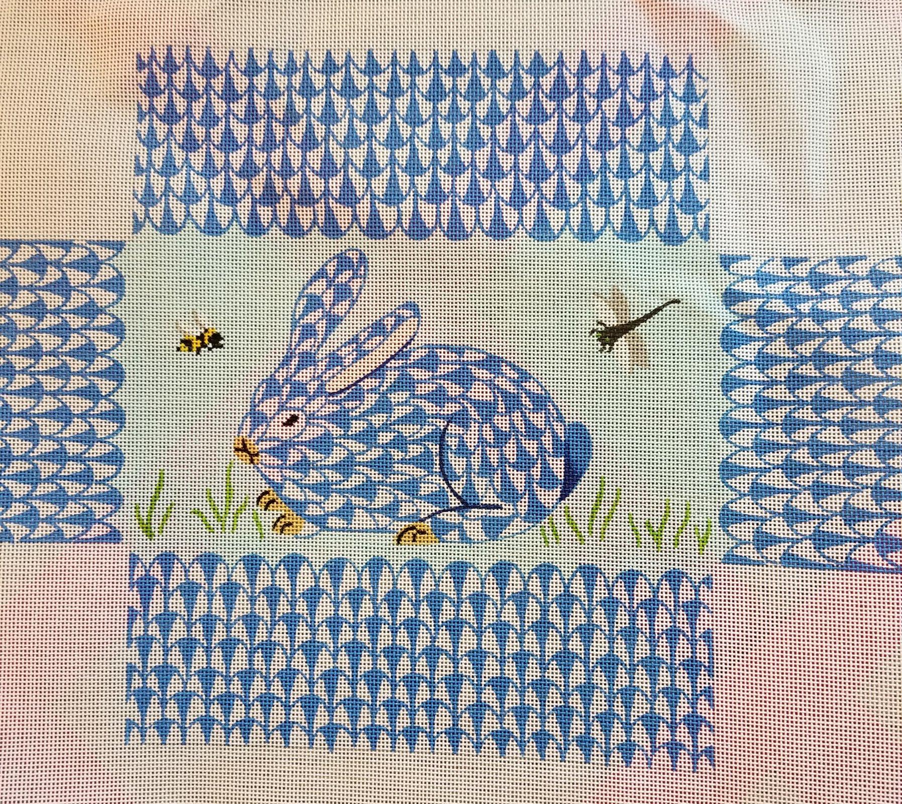 Fishnet Bunny Blue