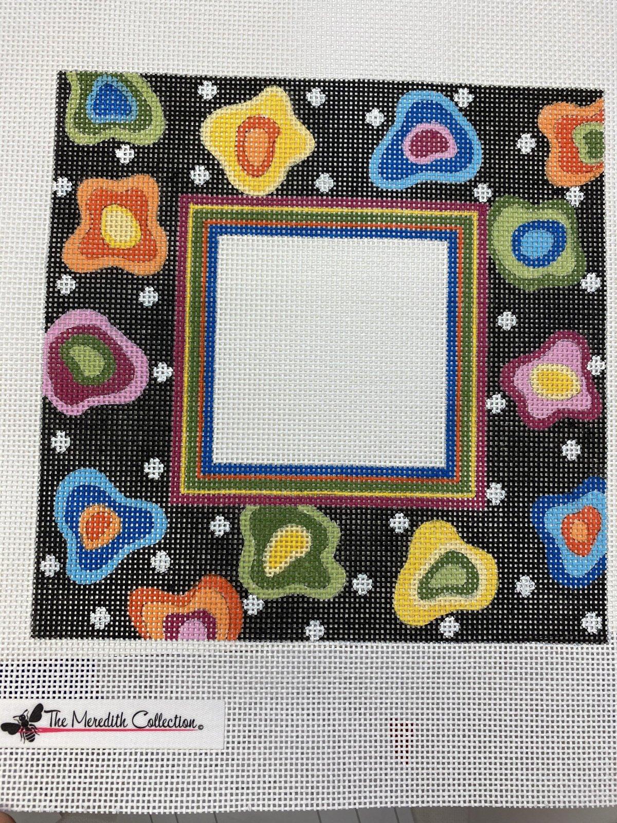 Dotty Floral Frame