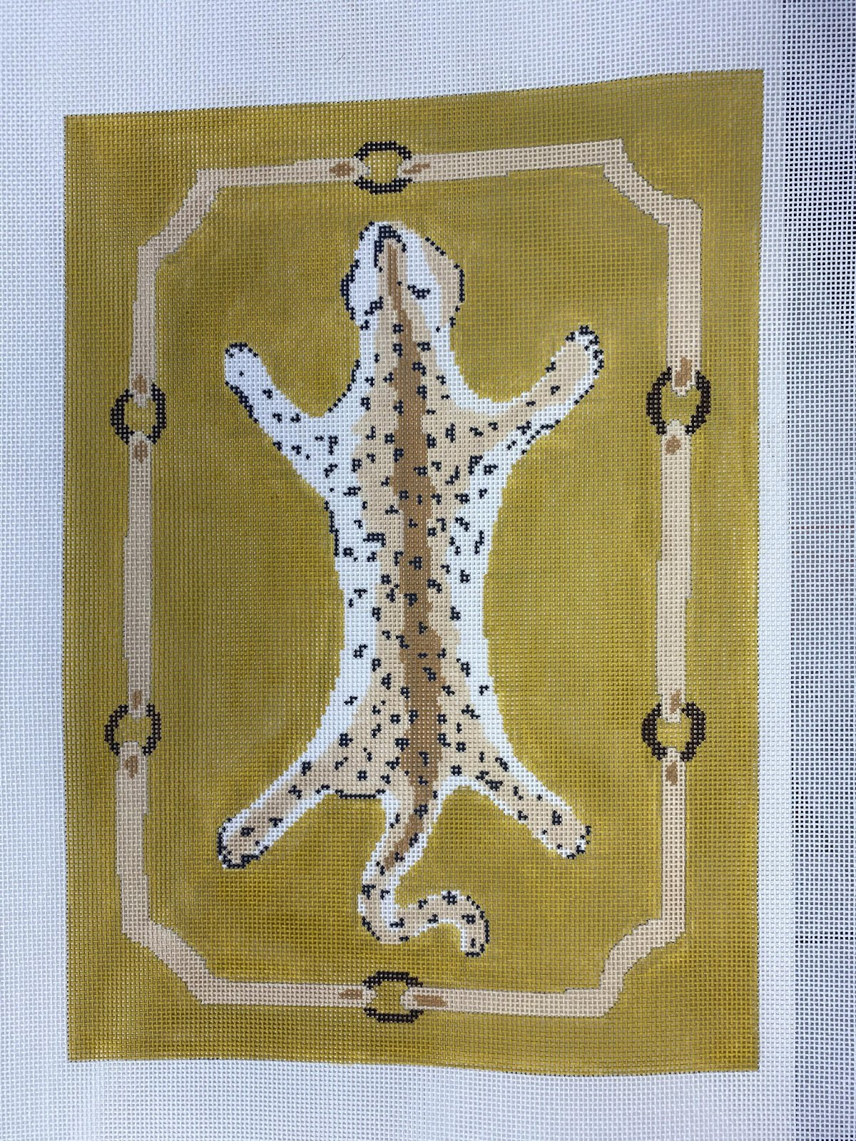 Leopard Clutch on Yellow