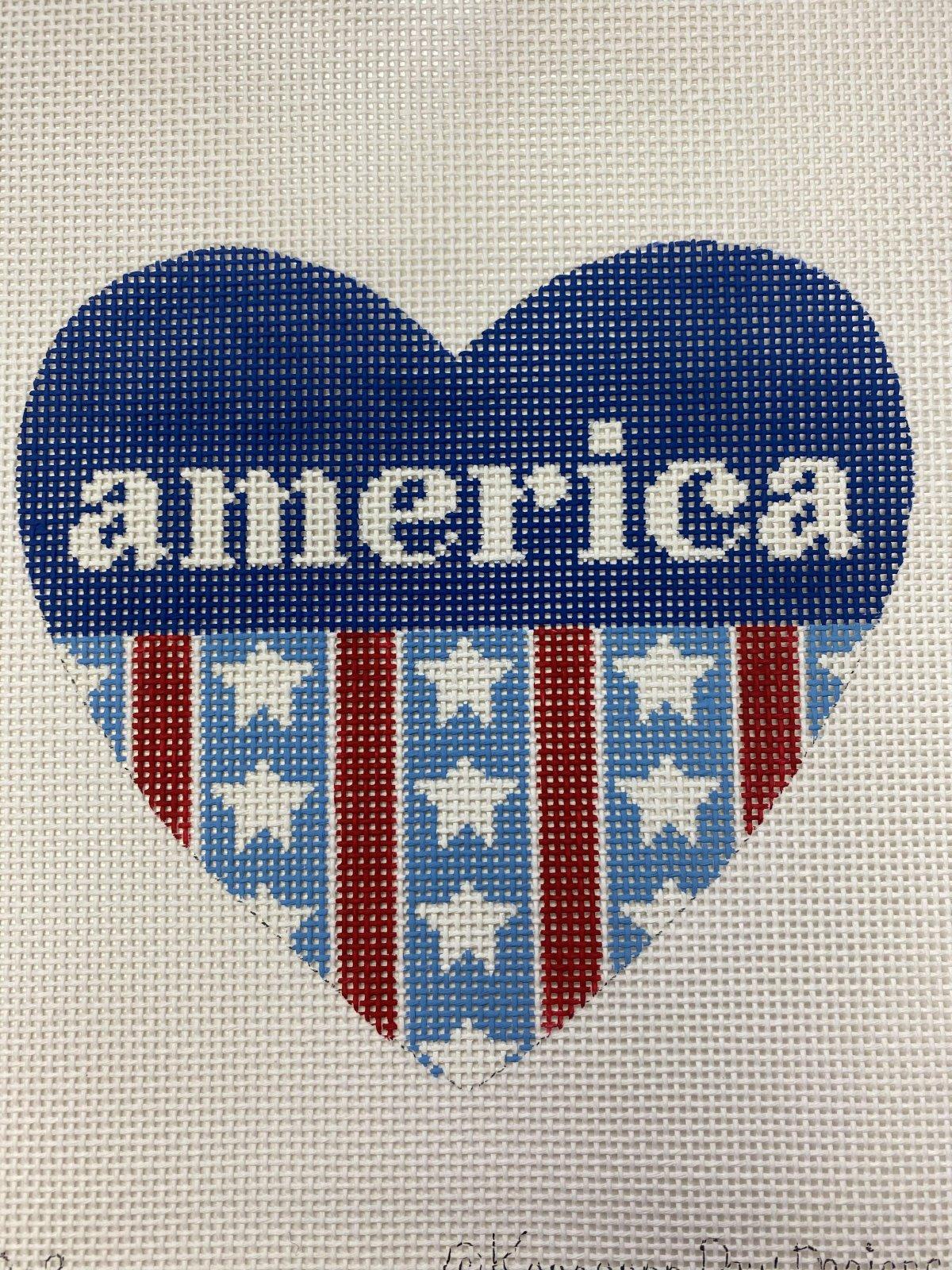 Patriotic Heart - America