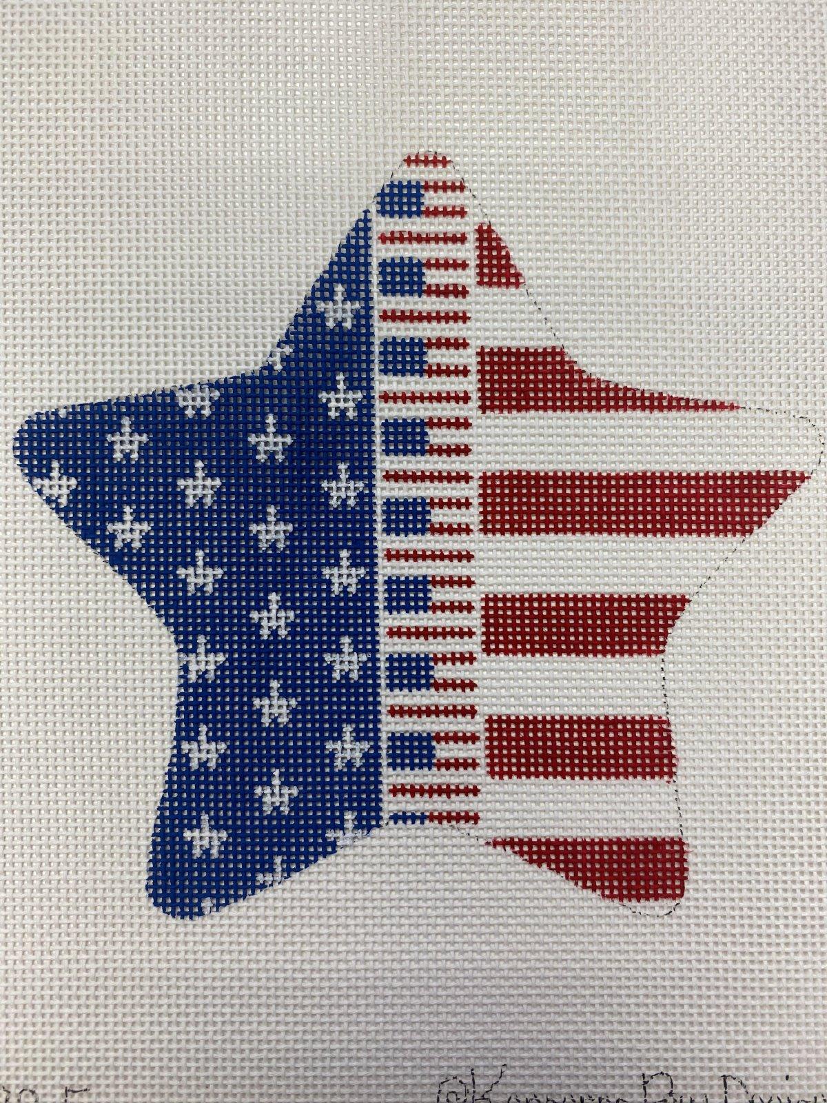 Patriotic Star - Flag zipper