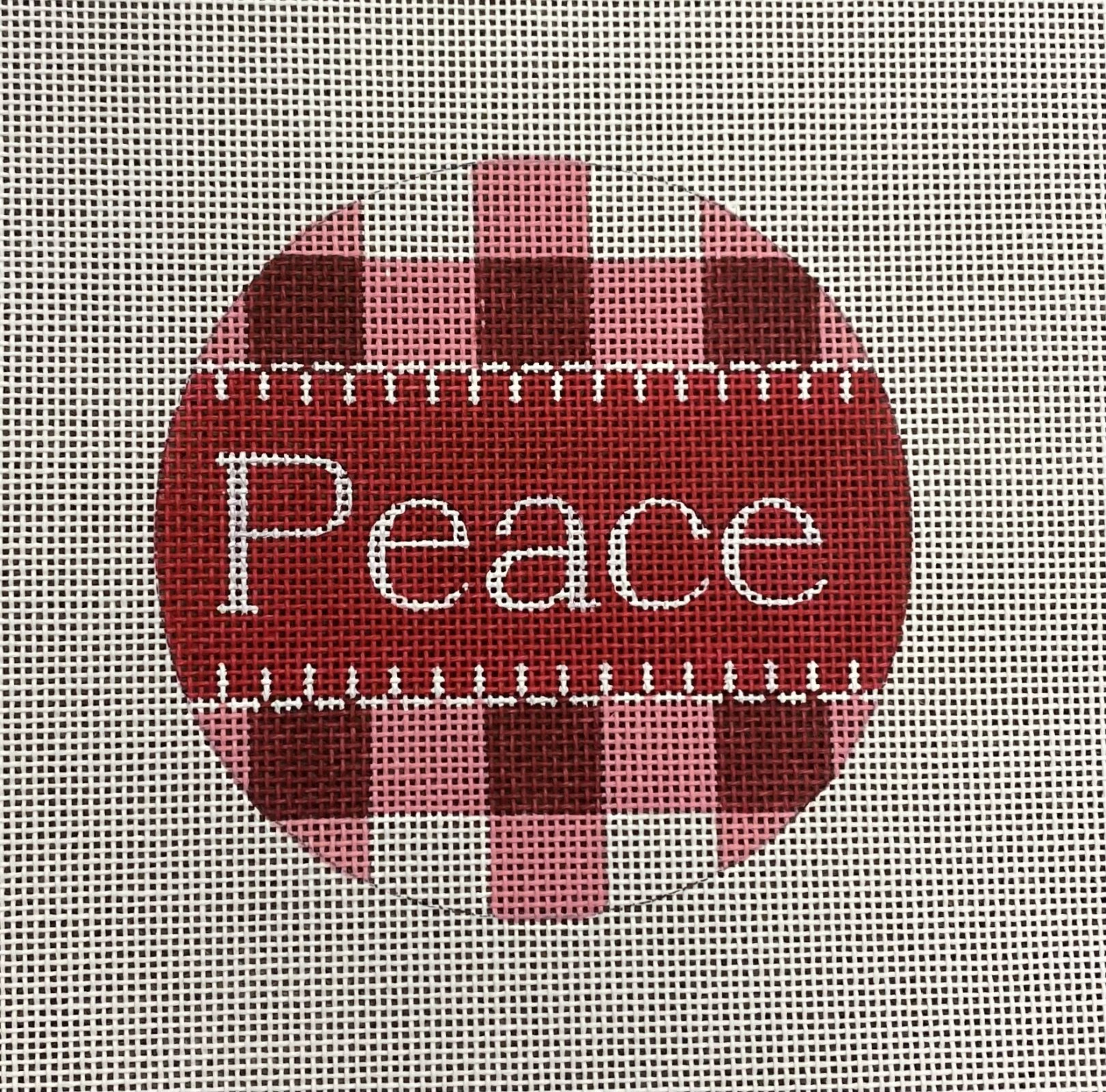 Peace Red Gingham