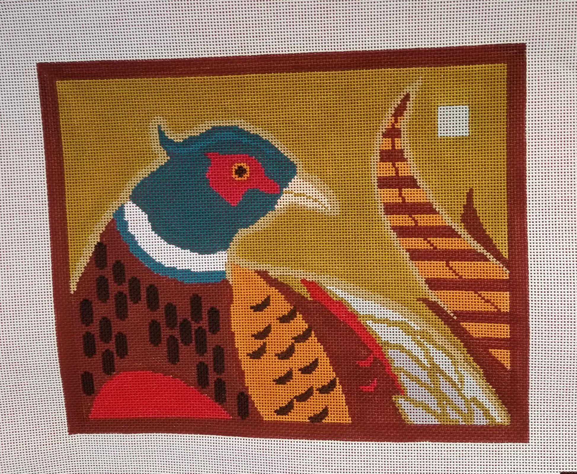 Pheasant teal head