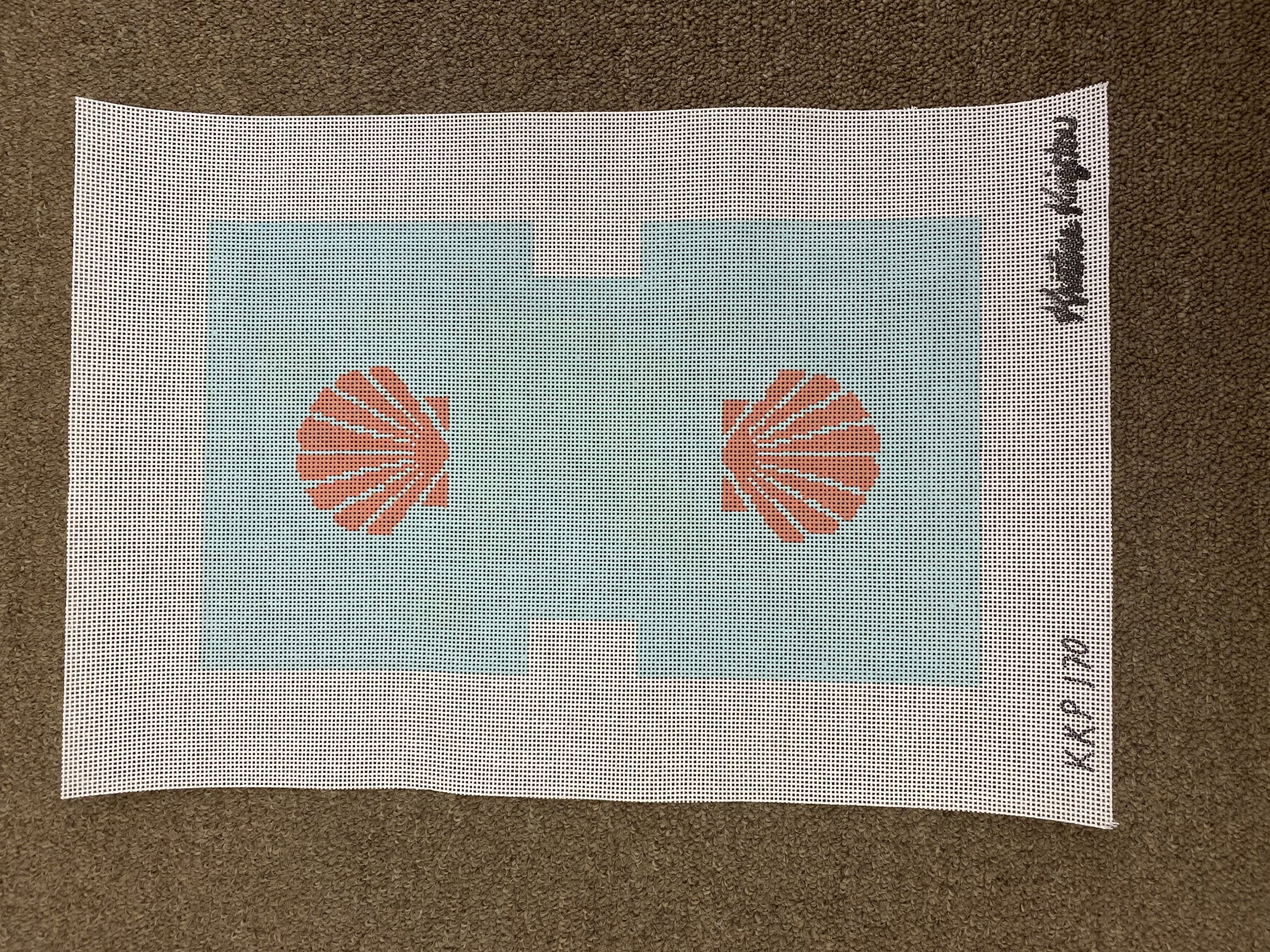 Seashell Clutch Coral and Teal