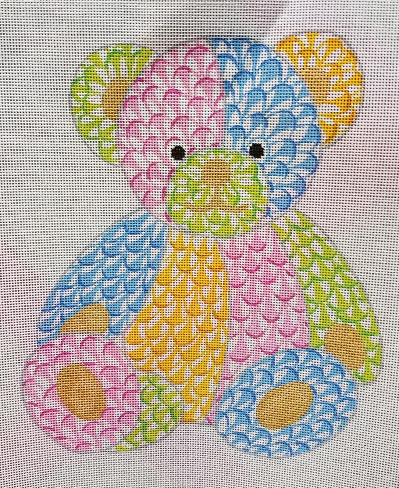 Fishnet Patchwork Teddy Bear