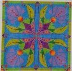 Teal Flower Tiles