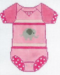 Onesie- Pink Elephant