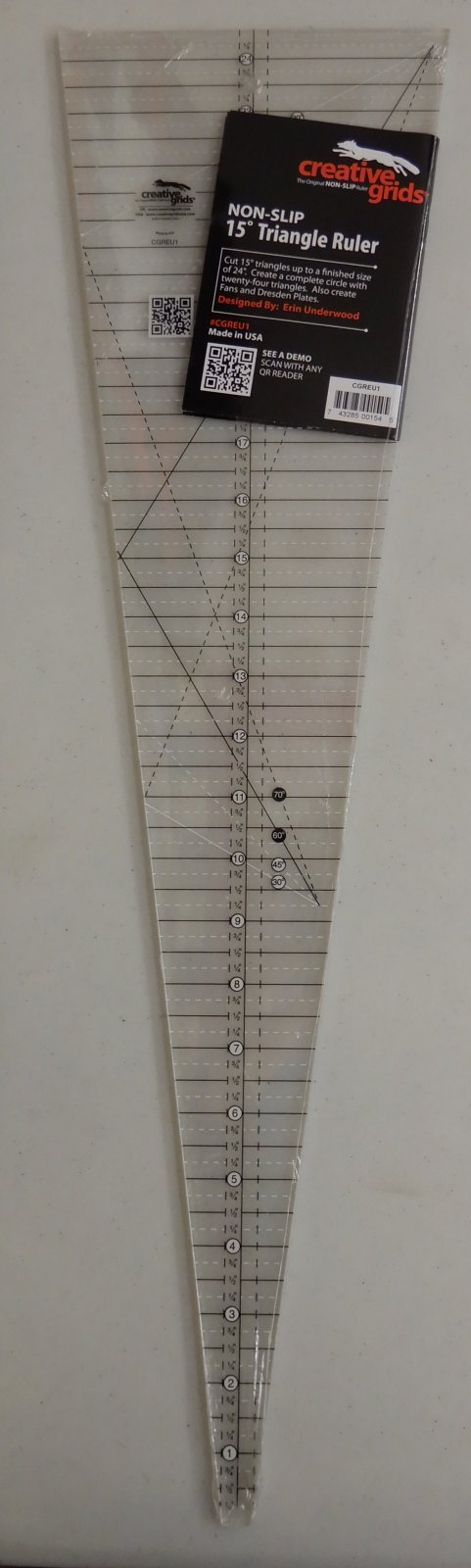 Creative Grids 15 degree Ruler