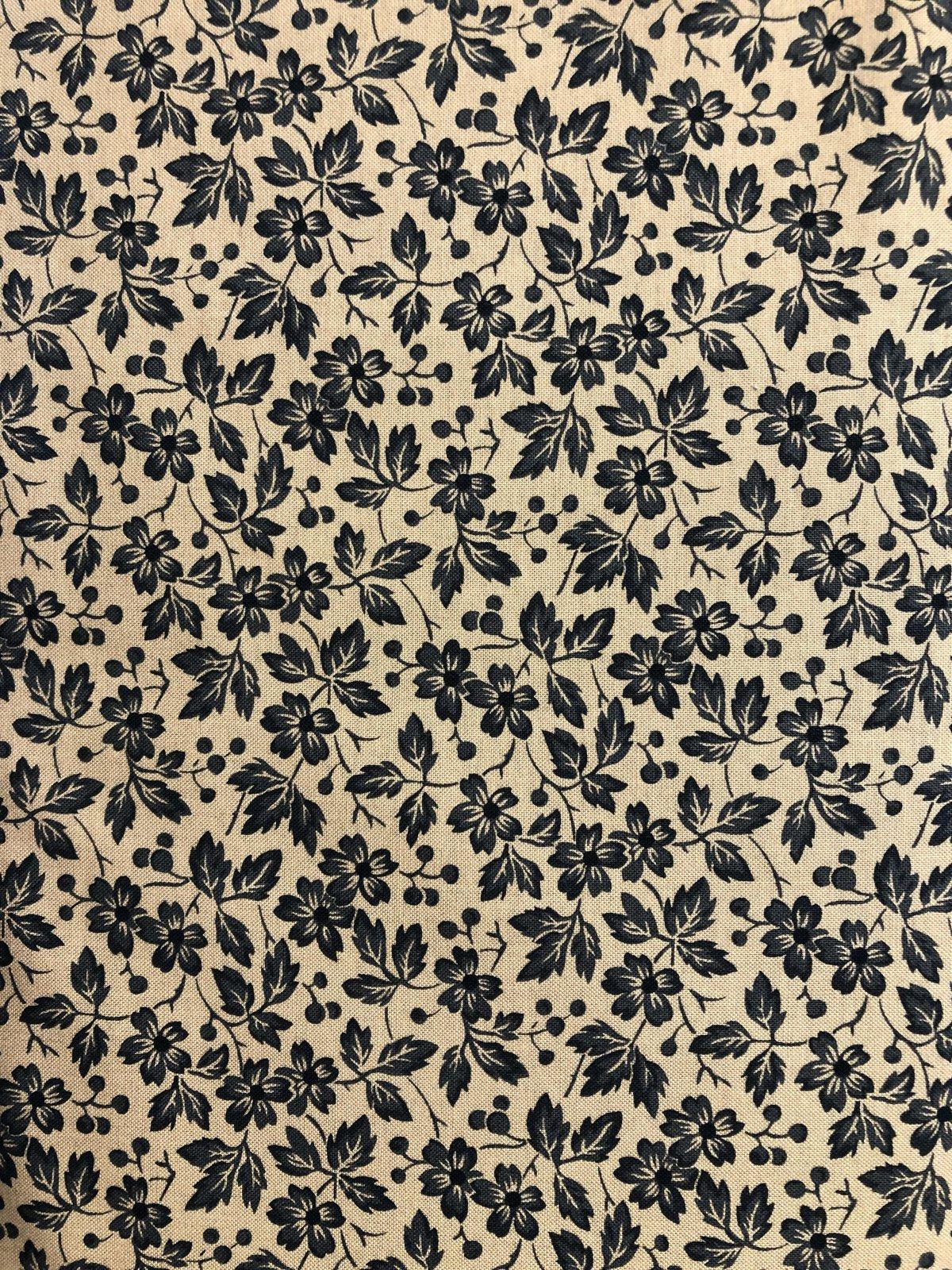 Black Flowers - 8619-J