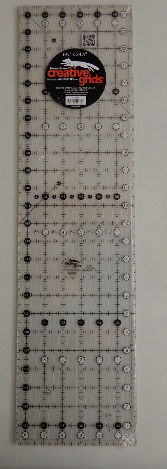 Creative Grids 61/2 X 24 1/2  Turn-a-Round Ruler